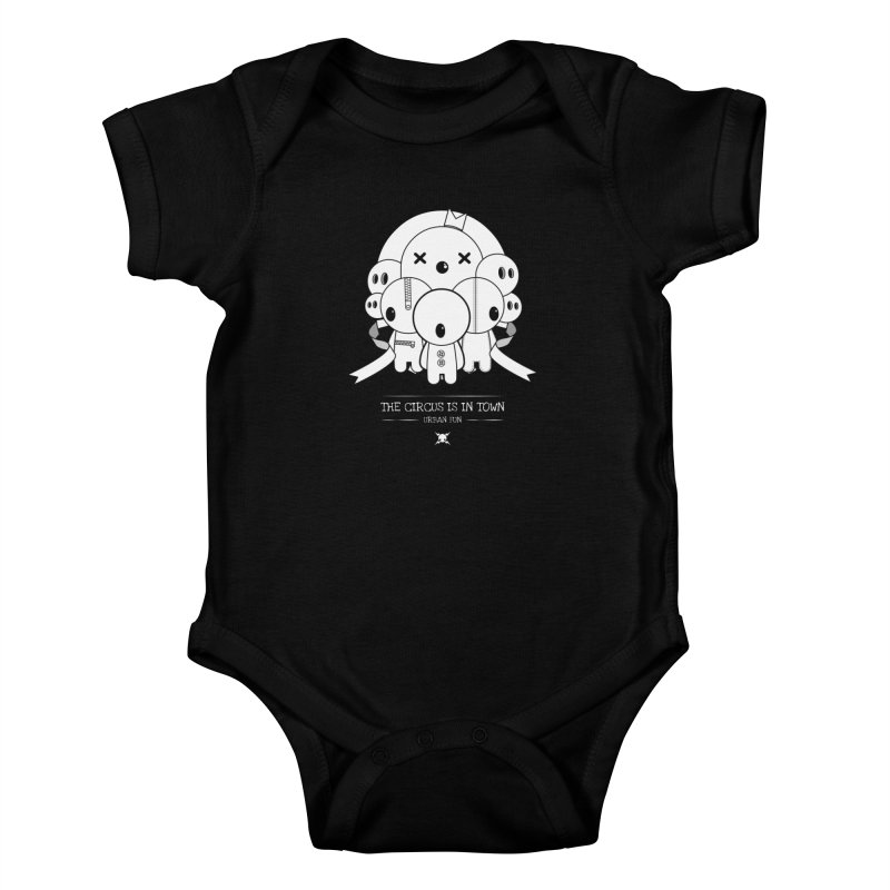 URBAN FUN:THE CIRCUS IS IN TOWN Kids Baby Bodysuit by NOMAKU