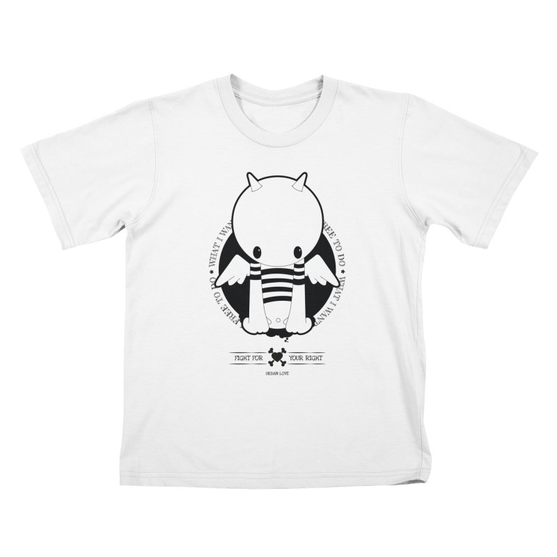 URBAN LOVE: FIGHT FOR YOUR RIGHT Kids T-Shirt by NOMAKU
