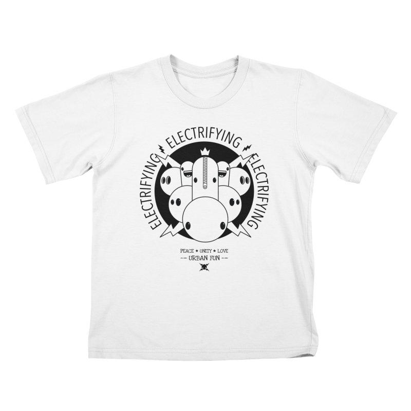 URBAN FUN: IT'S ELECTRIFYING Kids T-Shirt by NOMAKU