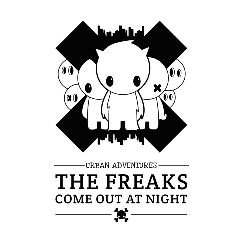 URBAN TALES: THE FREAKS COME OUT AT NIGHT Men's V-Neck by NOMAKU