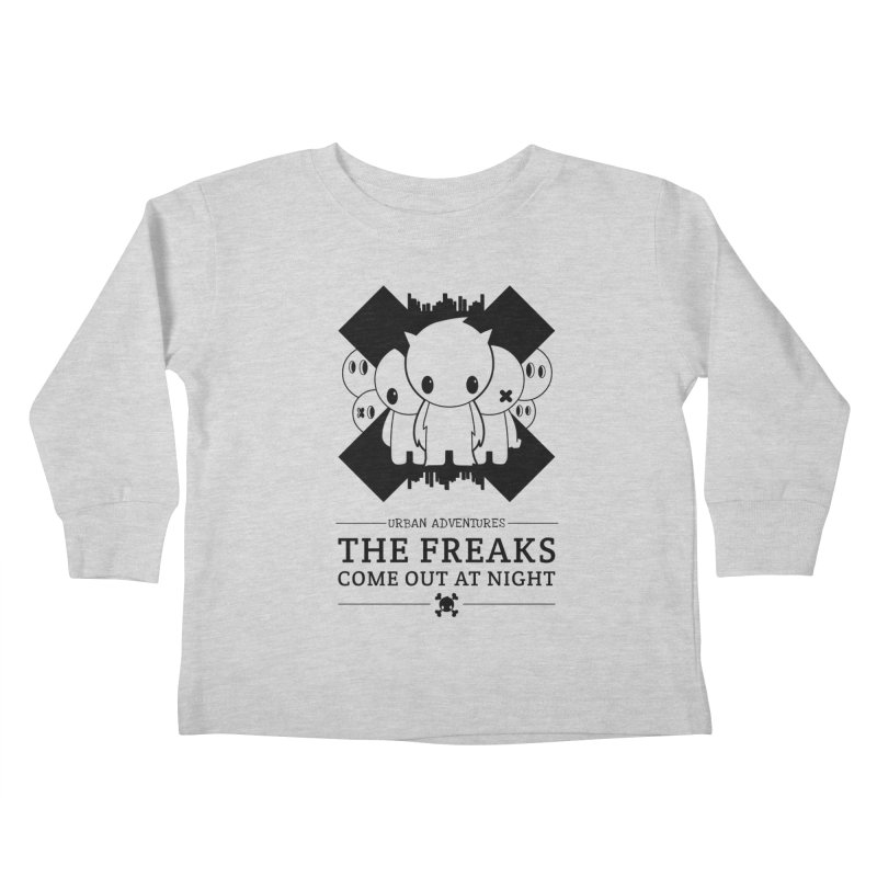 URBAN TALES: THE FREAKS COME OUT AT NIGHT Kids Toddler Longsleeve T-Shirt by NOMAKU