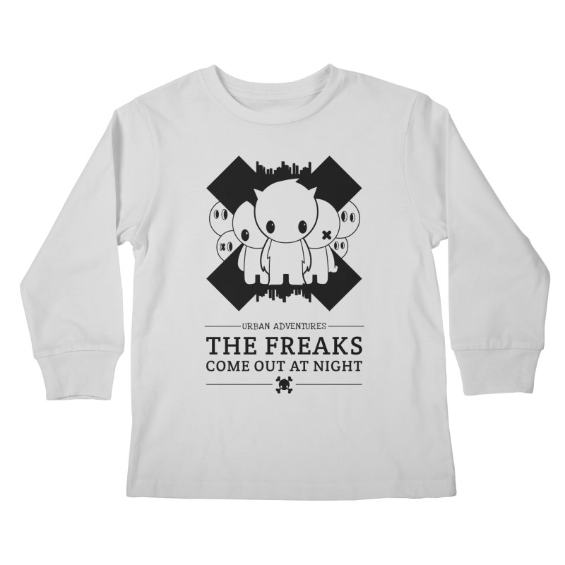URBAN TALES: THE FREAKS COME OUT AT NIGHT Kids Longsleeve T-Shirt by NOMAKU
