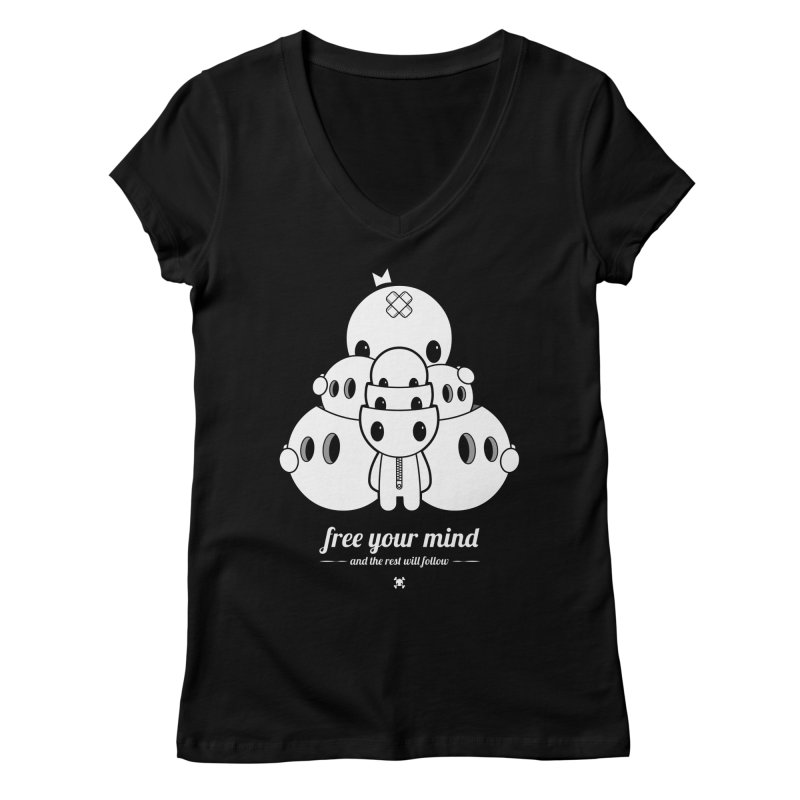 URBAN TALES: FREE YOUR MIND Women's V-Neck by NOMAKU