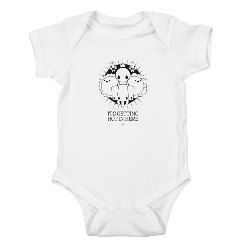 URBAN TALES: IT'S GETTING HOT IN HERE Kids Baby Bodysuit by NOMAKU