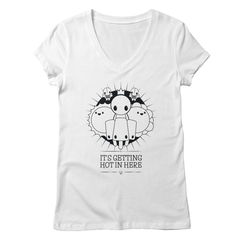 URBAN TALES: IT'S GETTING HOT IN HERE Women's V-Neck by NOMAKU
