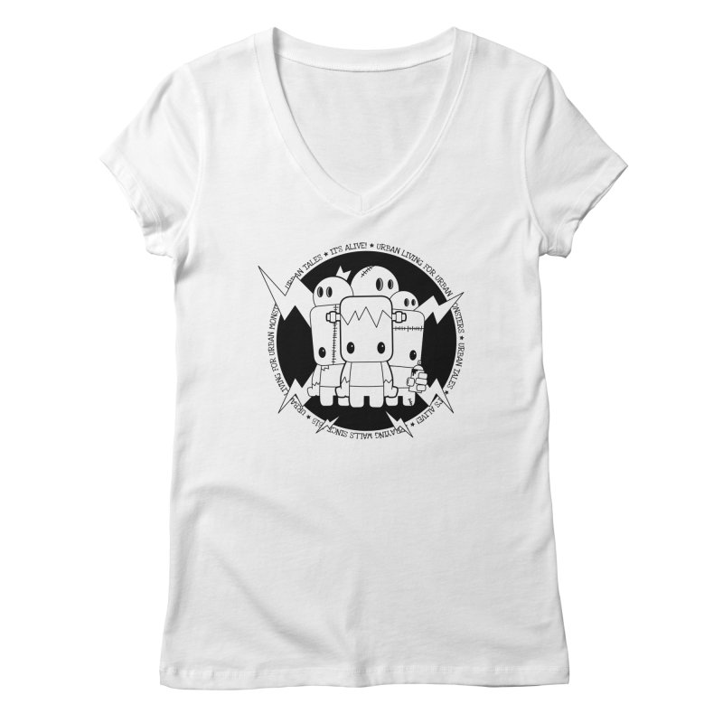 URBAN TALES: IT'S ALIVE! Women's V-Neck by NOMAKU