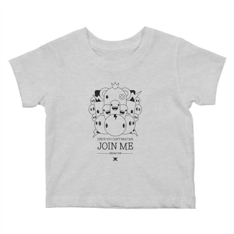 URBAN FUN: JOIN THE CRAZIES Kids Baby T-Shirt by NOMAKU
