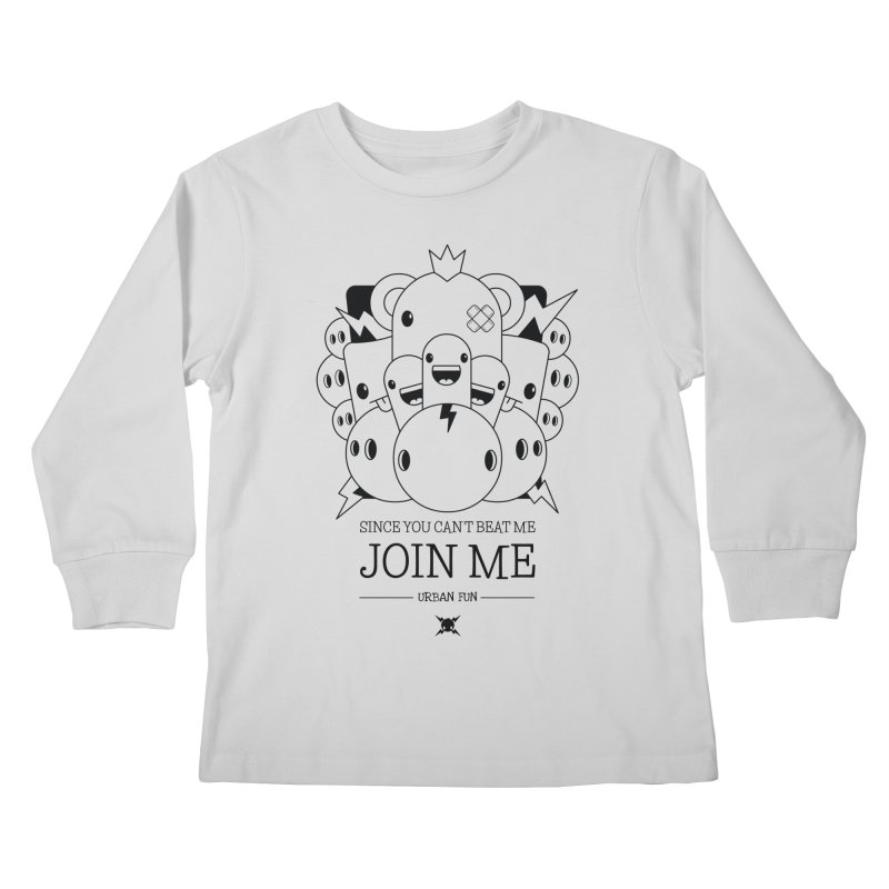 URBAN FUN: JOIN THE CRAZIES Kids Longsleeve T-Shirt by NOMAKU