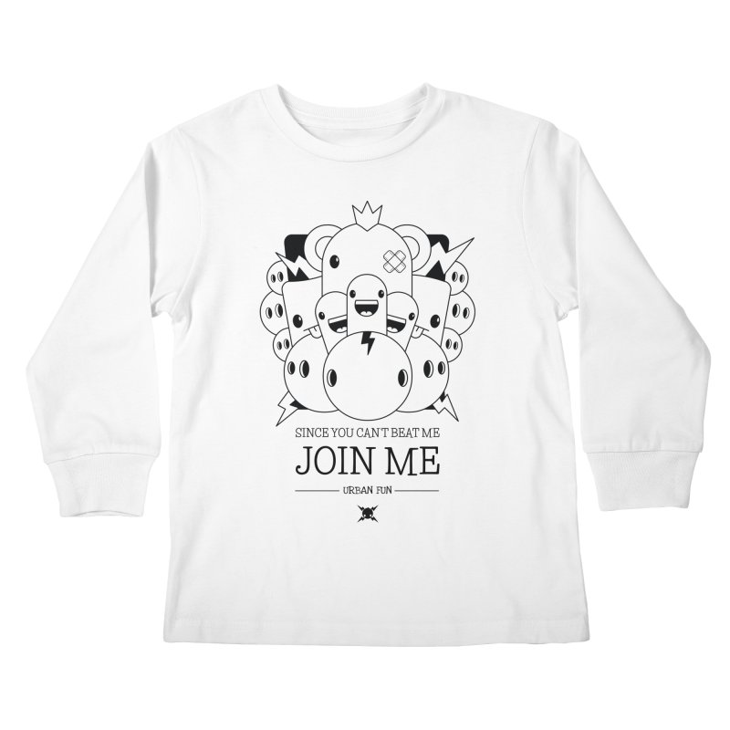 URBAN FUN: JOIN THE CRAZIES Kids Longsleeve T-Shirt by NOMAKU
