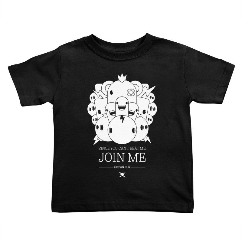 URBAN FUN: JOIN THE CRAZIES Kids Toddler T-Shirt by NOMAKU