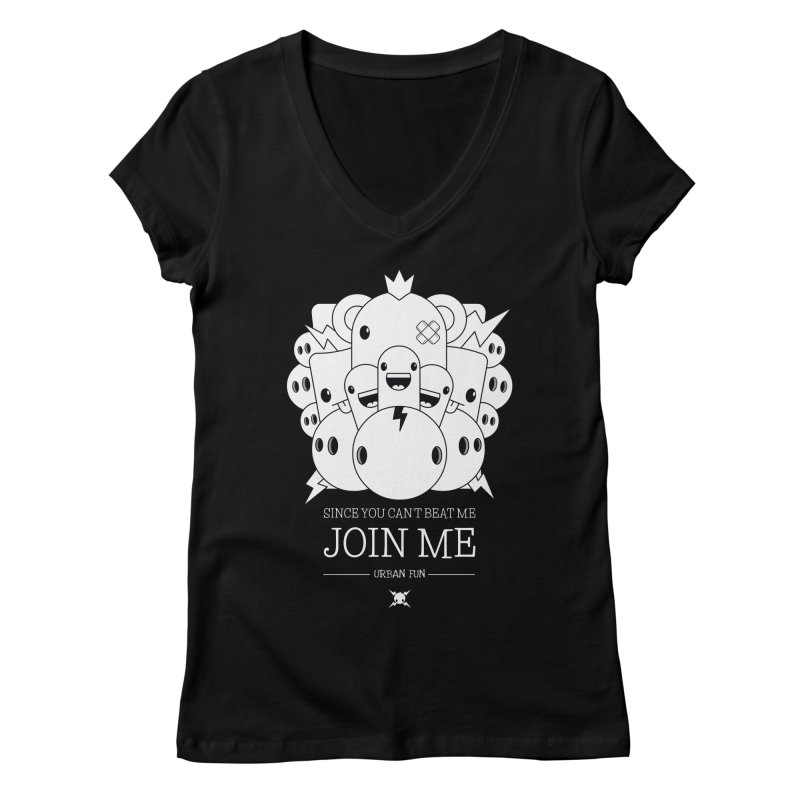 URBAN FUN: JOIN THE CRAZIES Women's V-Neck by NOMAKU