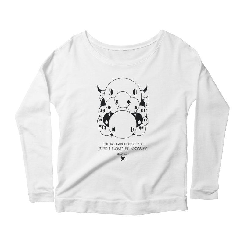 URBAN TALES: IT'S LIKE A JUNGLE SOMETIMES Women's Longsleeve T-Shirt by NOMAKU
