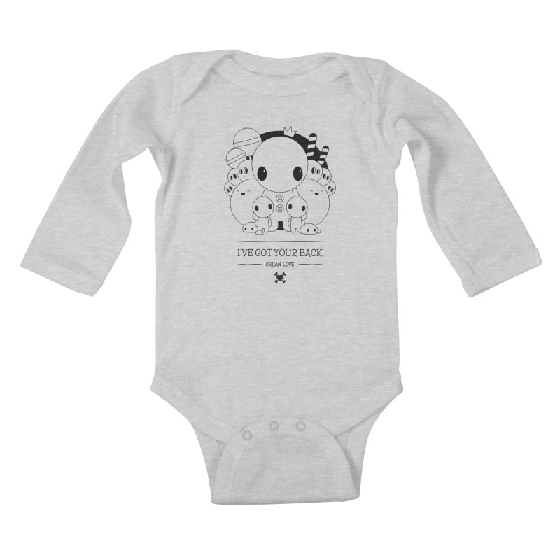URBAN LOVE: I'VE GOT YOUR BACK Kids Baby Longsleeve Bodysuit by NOMAKU