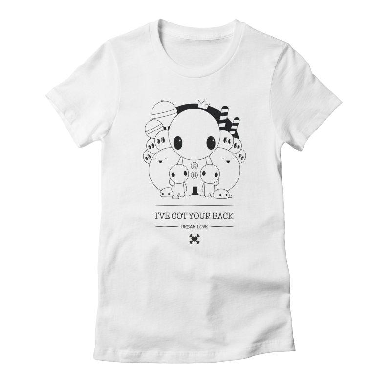 URBAN LOVE: I'VE GOT YOUR BACK Women's T-Shirt by NOMAKU