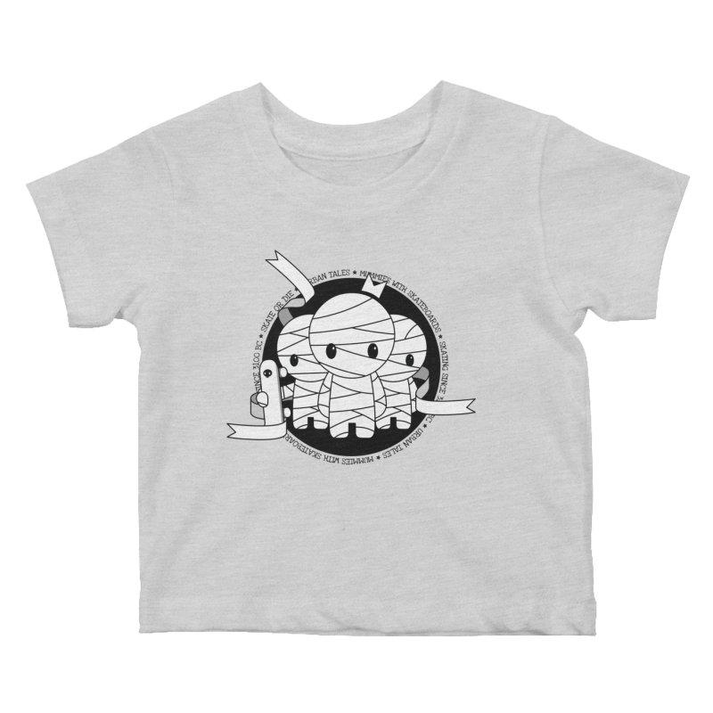 URBAN TALES: MUMMIES WITH SKATEBOARDS Kids Baby T-Shirt by NOMAKU