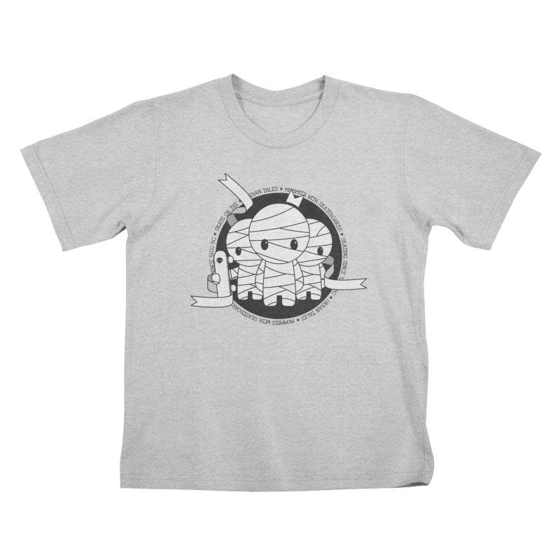 URBAN TALES: MUMMIES WITH SKATEBOARDS Kids T-Shirt by NOMAKU