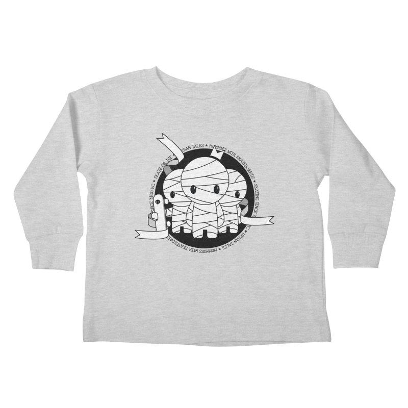 URBAN TALES: MUMMIES WITH SKATEBOARDS Kids Toddler Longsleeve T-Shirt by NOMAKU