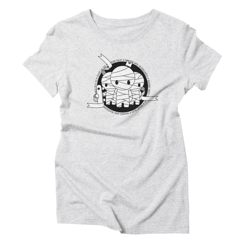 URBAN TALES: MUMMIES WITH SKATEBOARDS Women's T-Shirt by NOMAKU
