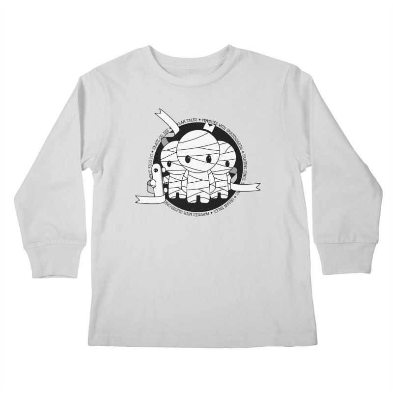 URBAN TALES: MUMMIES WITH SKATEBOARDS Kids Longsleeve T-Shirt by NOMAKU