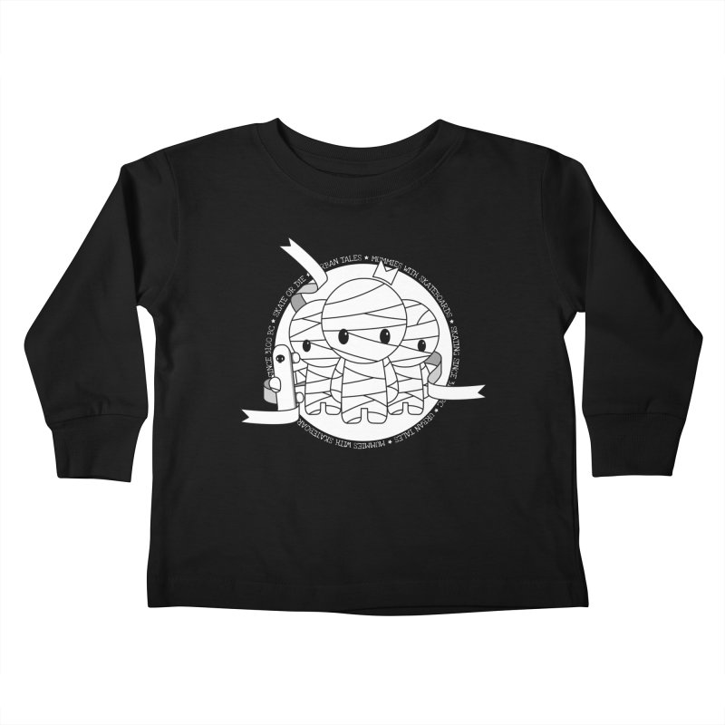 URBAN TALES: MUMMIES WITH SKATEBOARDS Kids Toddler Longsleeve T-Shirt by NOMAKU