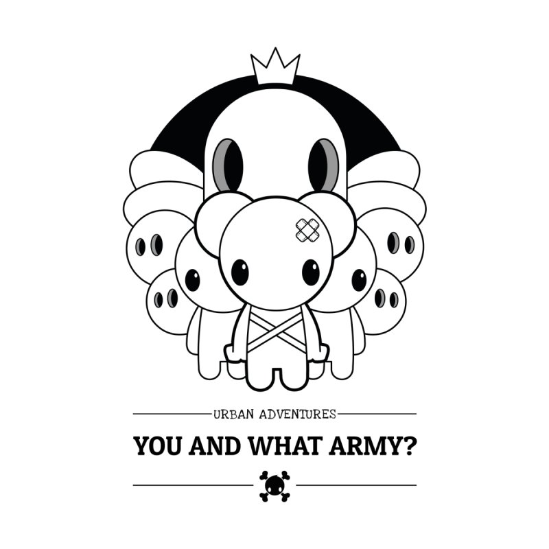 URBAN ADVENTURES: YOU AND WHAT ARMY? Kids Baby Longsleeve Bodysuit by NOMAKU