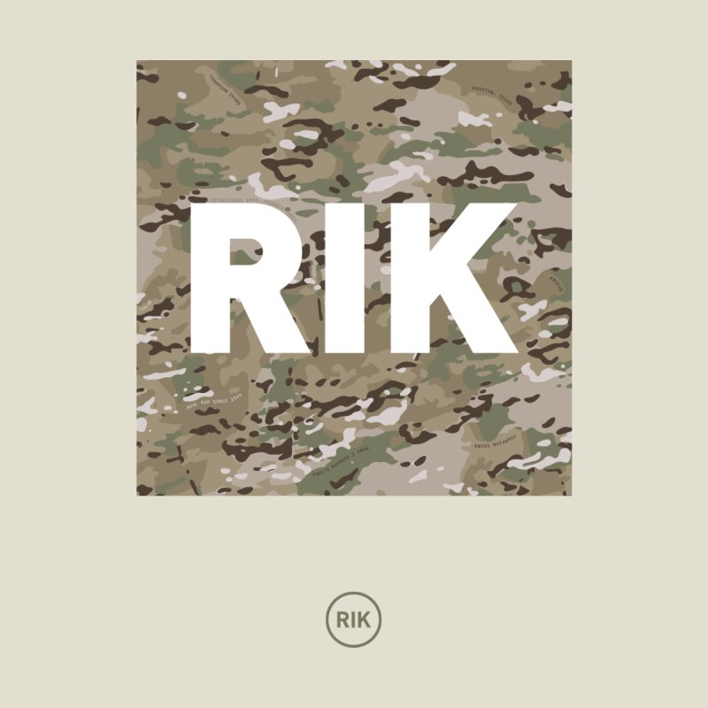 RIK Block (MultiCAM) Home Stretched Canvas by RIK.Supply