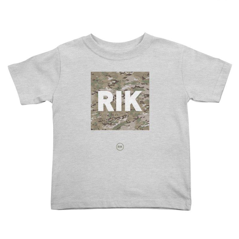 RIK Block (MultiCAM) Kids Toddler T-Shirt by RIK.Supply