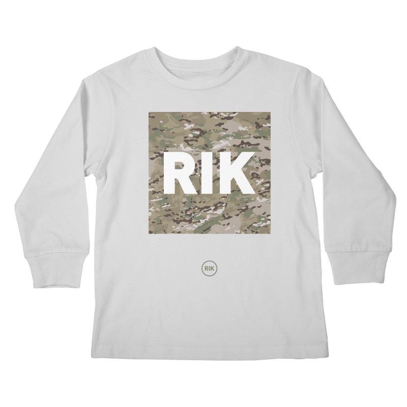 RIK Block (MultiCAM) Kids Longsleeve T-Shirt by RIK.Supply