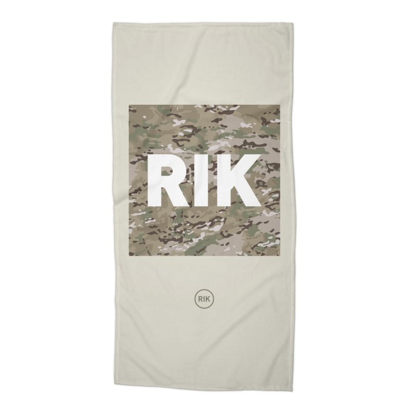 RIK Block (MultiCAM) Accessories Beach Towel by RIK.Supply