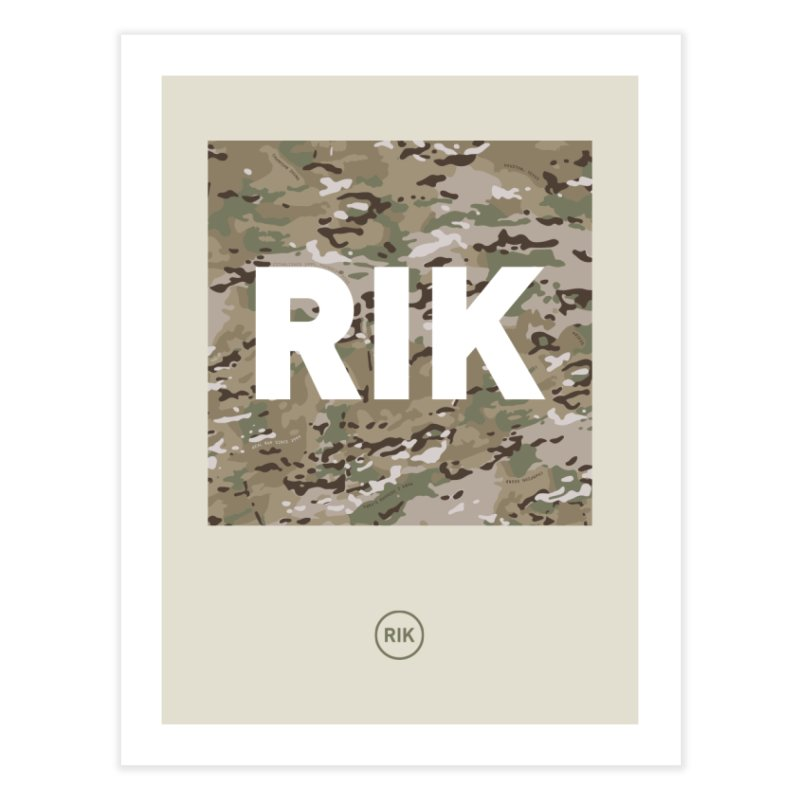 RIK Block (MultiCAM) Home Fine Art Print by RIK.Supply