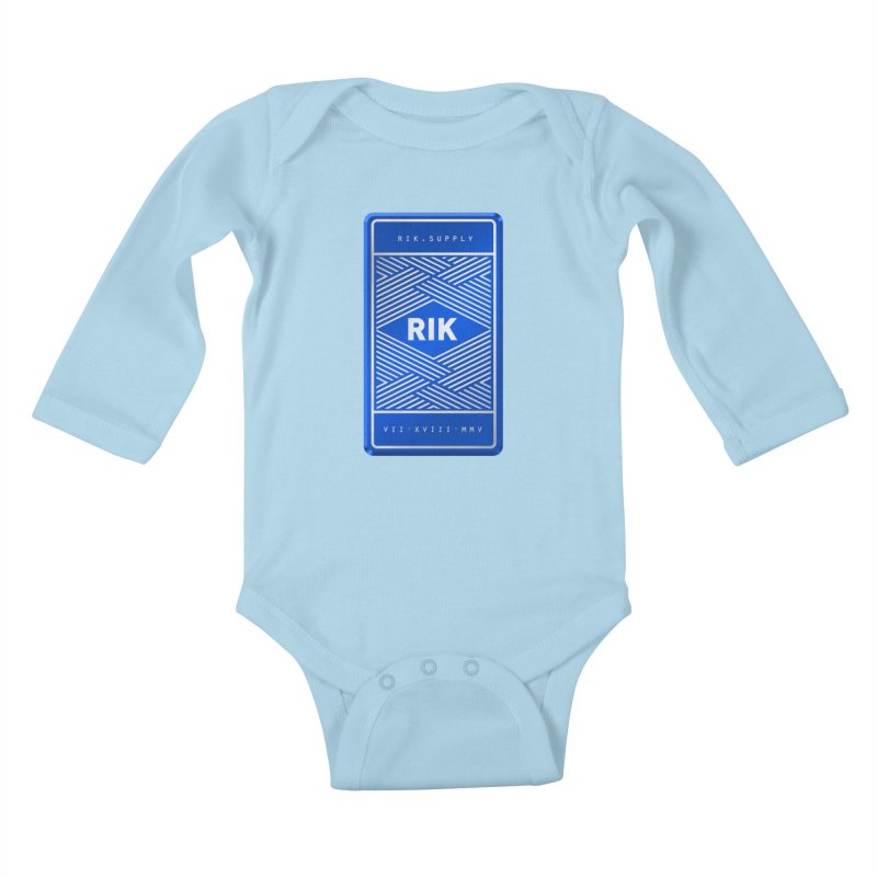 Barz (Royal) Kids Baby Longsleeve Bodysuit by RIK.Supply