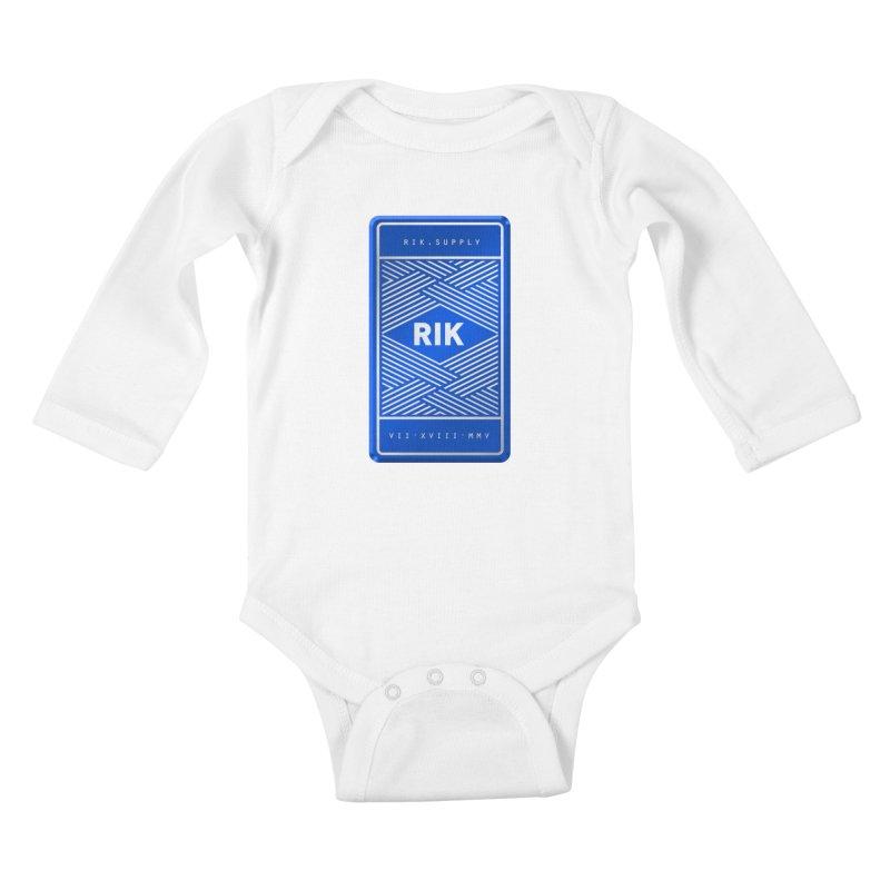 Barz (Royal) Kids Baby Longsleeve Bodysuit by RIK.Supply