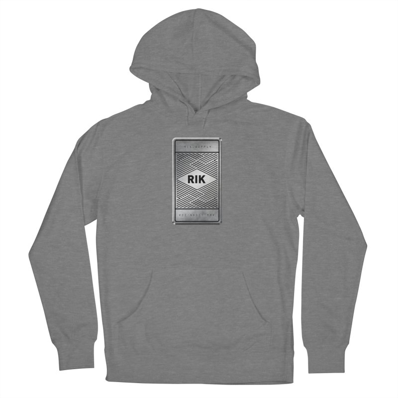 Barz (Silver) Men's French Terry Pullover Hoody by RIK.Supply