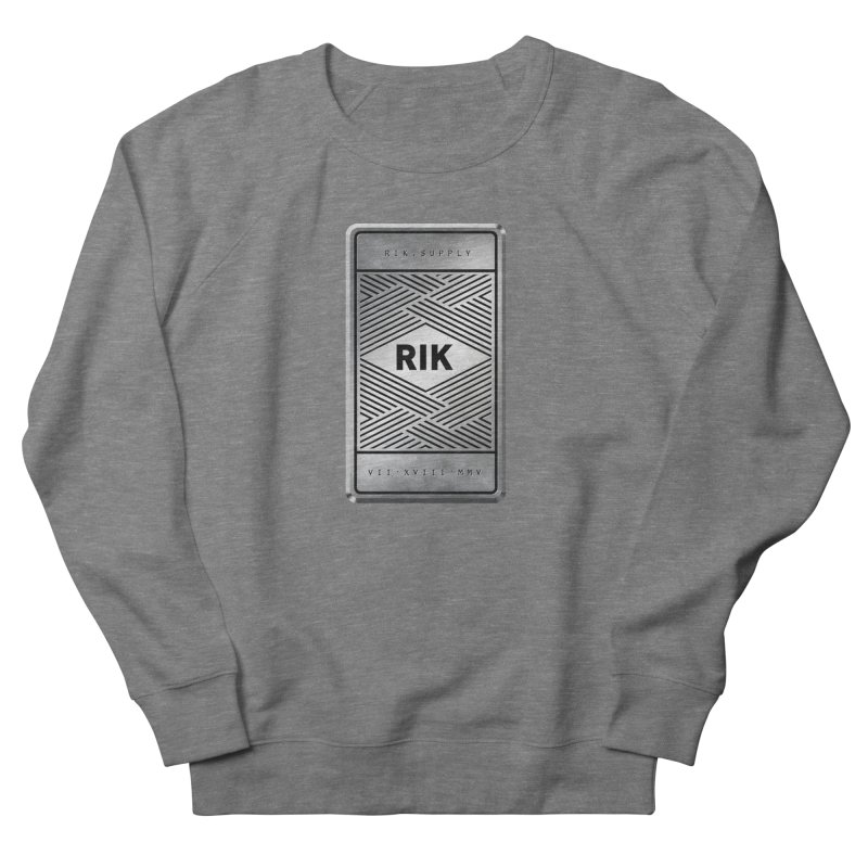 Barz (Silver) Men's French Terry Sweatshirt by RIK.Supply