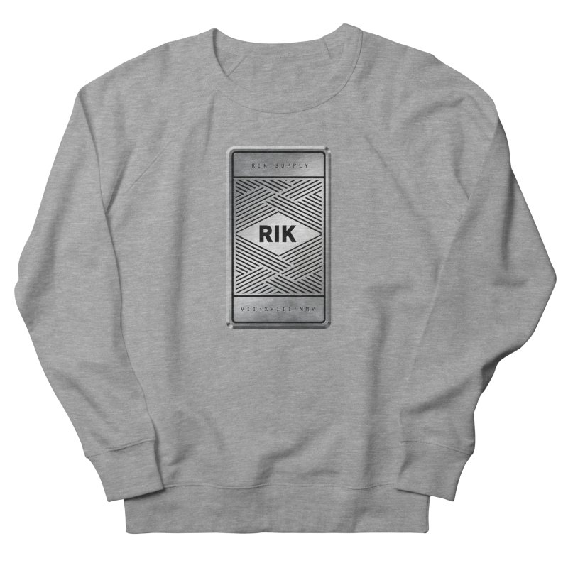 Barz (Silver) Men's French Terry Sweatshirt by RIK.Supply