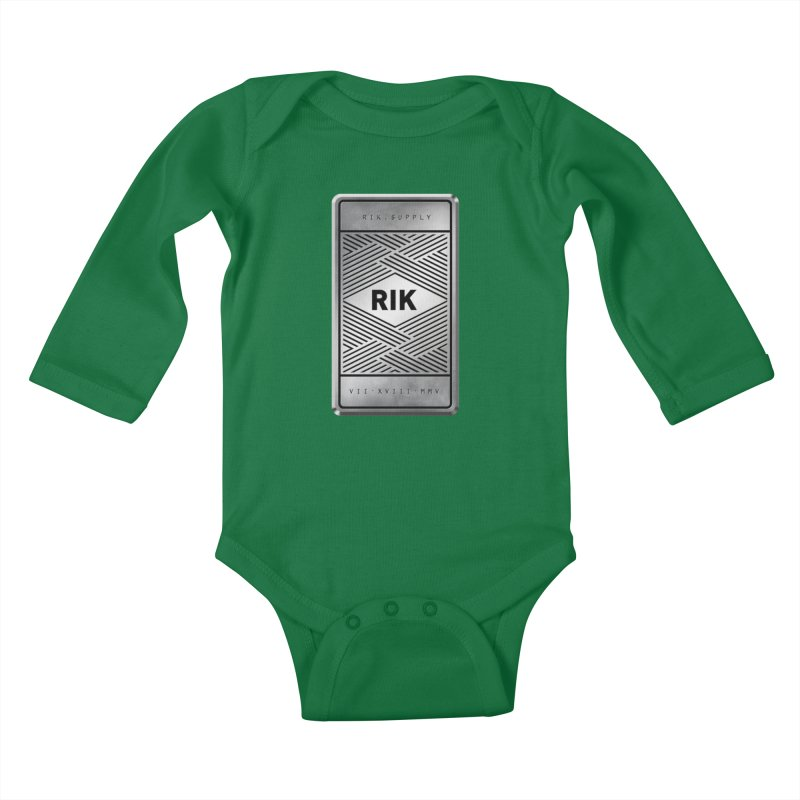 Barz (Silver) Kids Baby Longsleeve Bodysuit by RIK.Supply