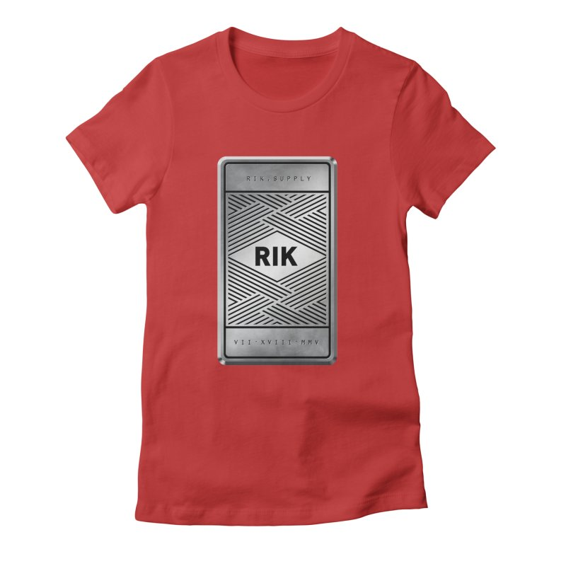 Barz (Silver) Women's Fitted T-Shirt by RIK.Supply