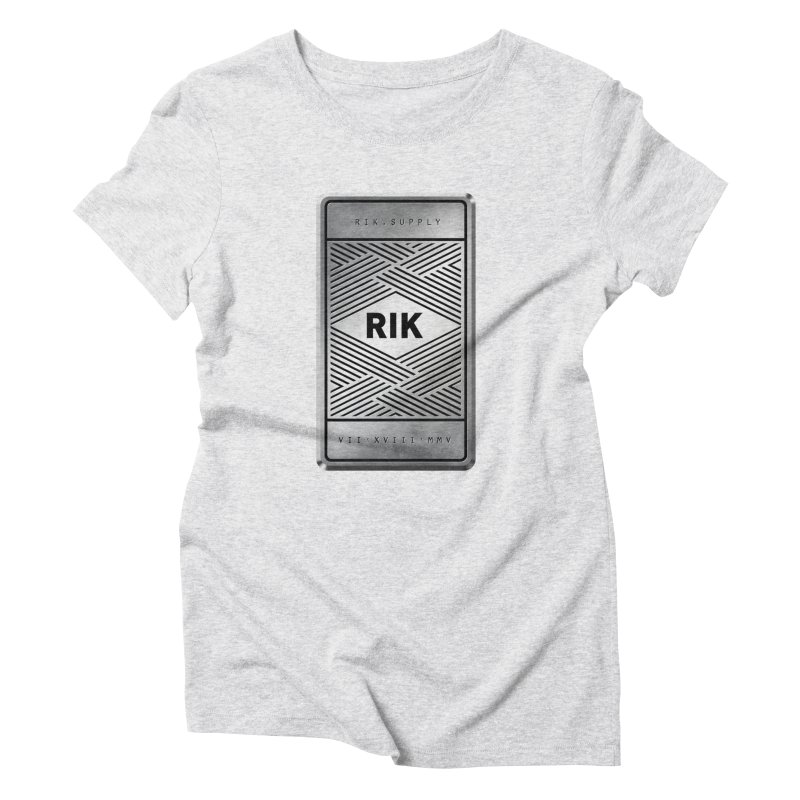 Barz (Silver) Women's Triblend T-Shirt by RIK.Supply