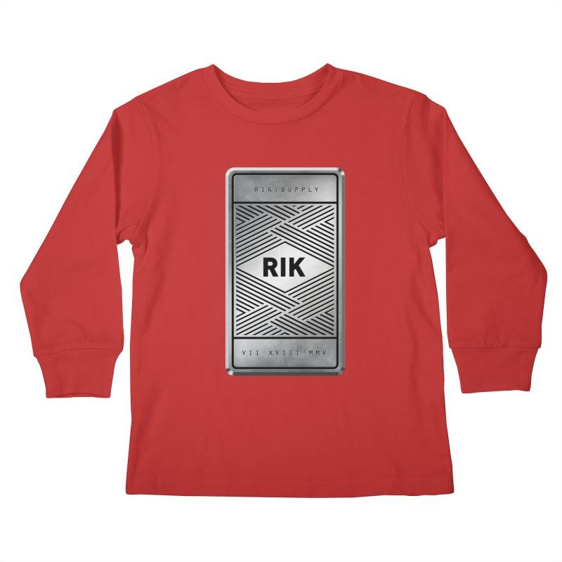 Barz (Silver) Kids Longsleeve T-Shirt by RIK.Supply