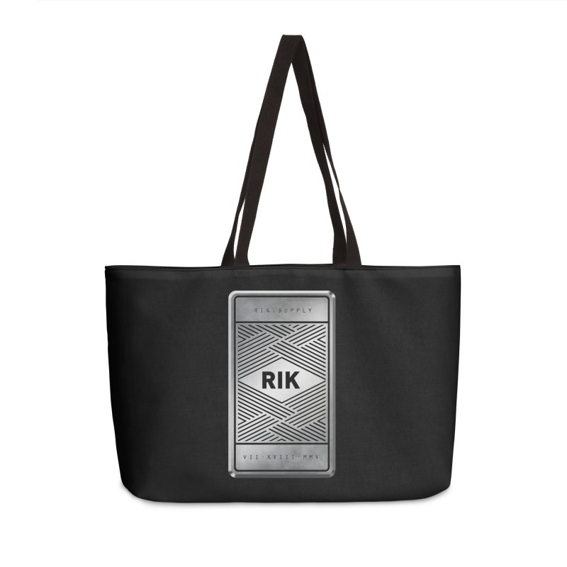 Barz (Silver) Accessories Weekender Bag Bag by RIK.Supply