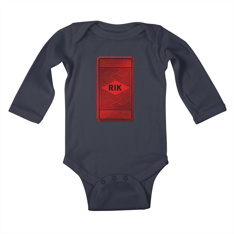 Barz (Rouge) Kids Baby Longsleeve Bodysuit by RIK.Supply
