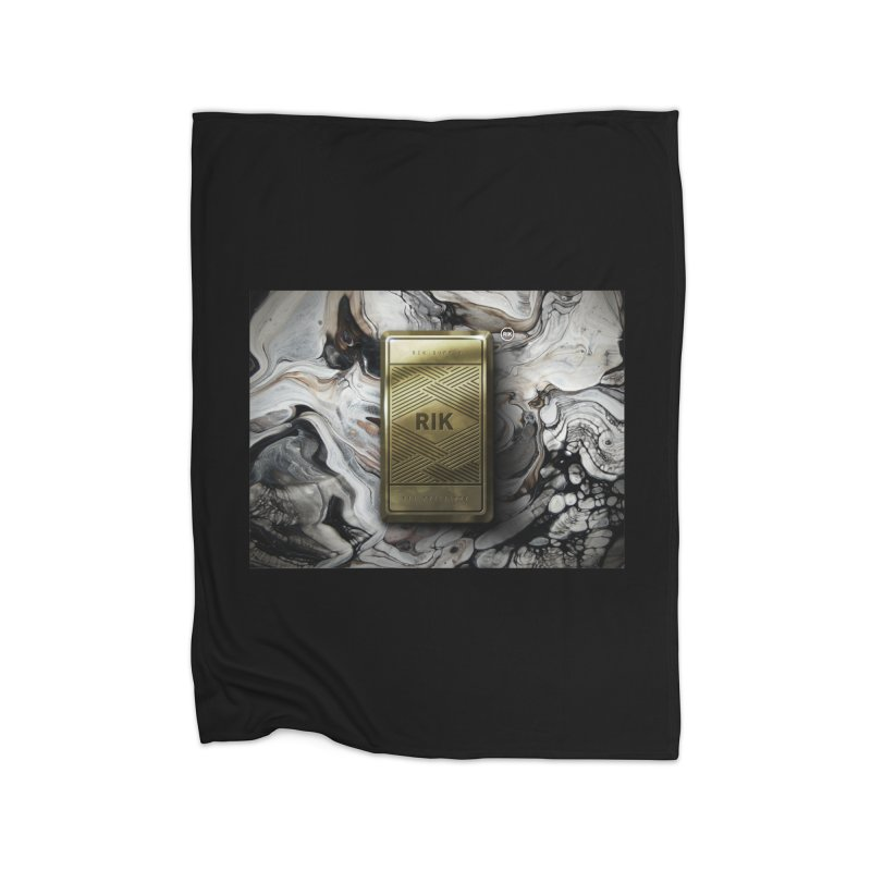 Barz (Gold) Home Fleece Blanket Blanket by RIK.Supply