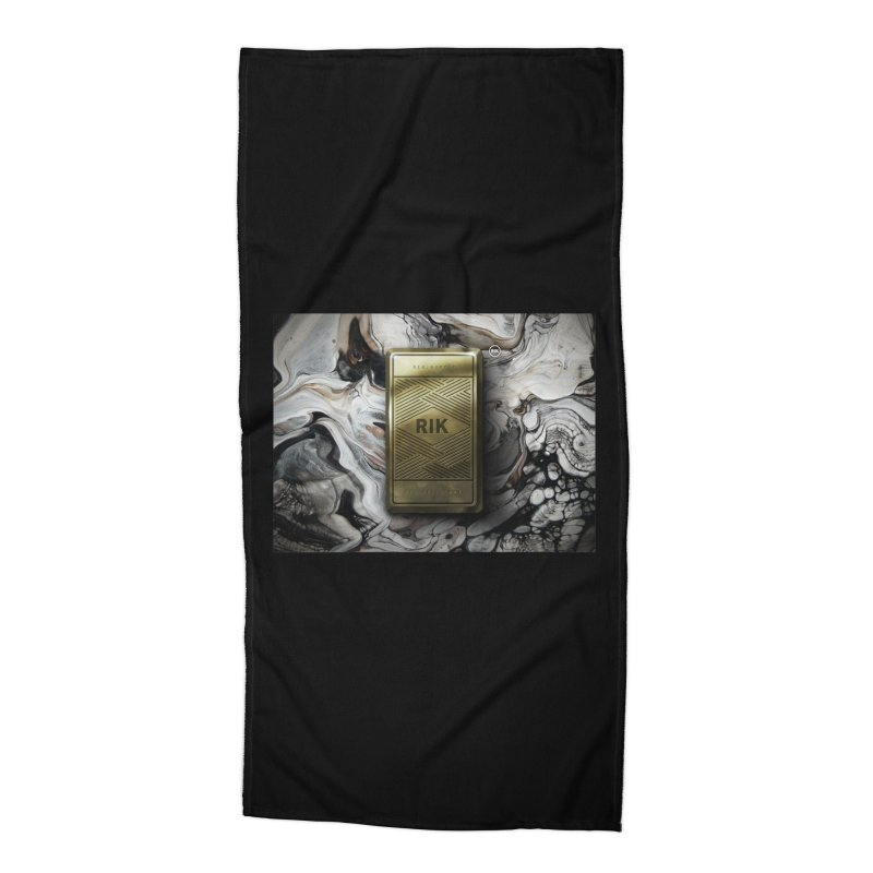 Barz (Gold) Accessories Beach Towel by RIK.Supply