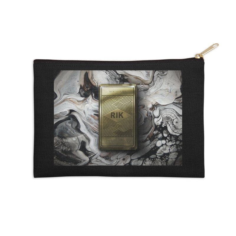 Barz (Gold) Accessories Zip Pouch by RIK.Supply