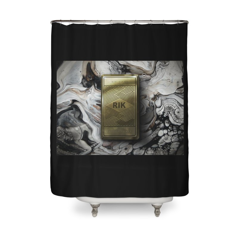 Barz (Gold) Home Shower Curtain by RIK.Supply