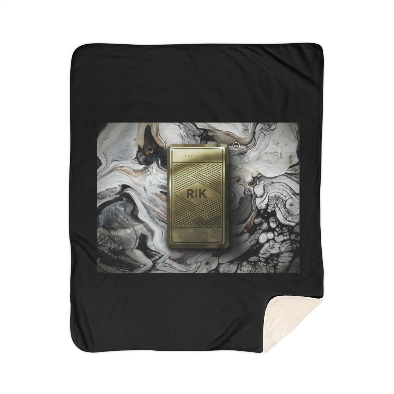 Barz (Gold) Home Sherpa Blanket Blanket by RIK.Supply