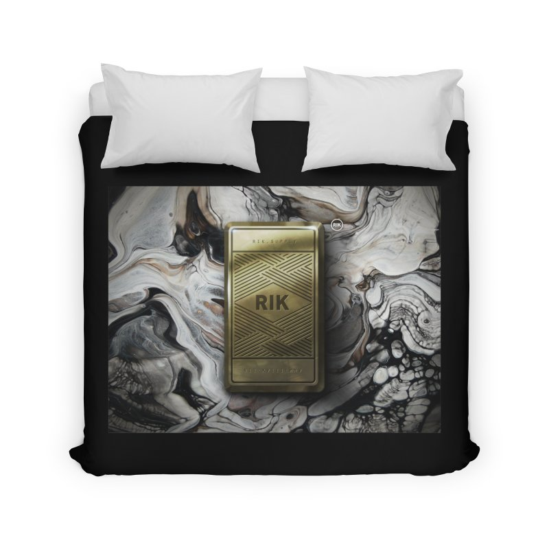 Barz (Gold) Home Duvet by RIK.Supply