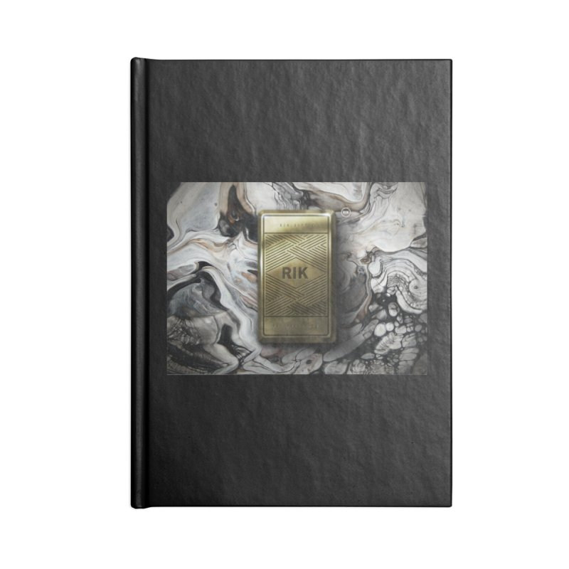 Barz (Gold) Accessories Lined Journal Notebook by RIK.Supply