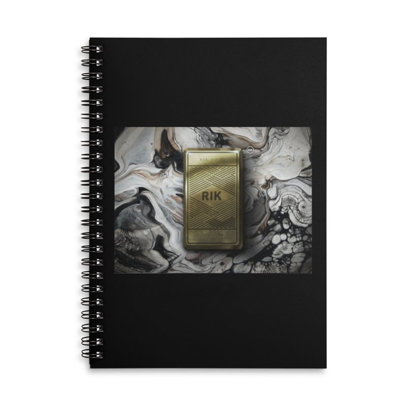 Barz (Gold) Accessories Lined Spiral Notebook by RIK.Supply