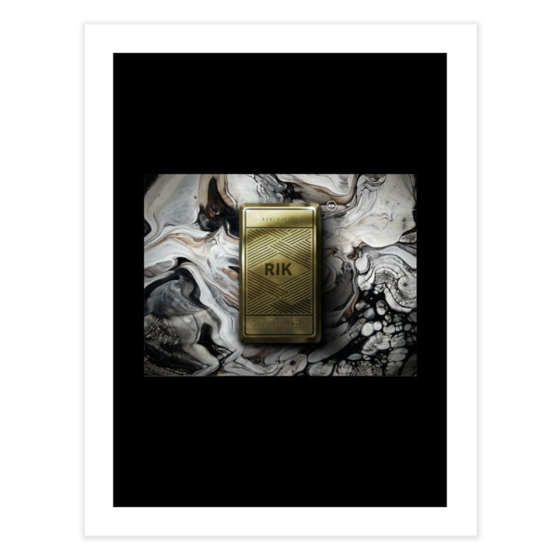 Barz (Gold) Home Fine Art Print by RIK.Supply